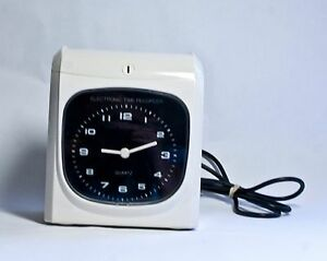 Electronic Employee Analogue Time Recorder Time Clock Monthly semimonthly