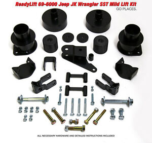 Readylift For 2007 2016 Jeep Wrangler Jk 3 0 f 2 0 r Sst Lift Kit