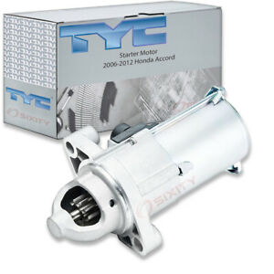 Tyc Starter Motor For 2006 2012 Honda Accord 2 4l L4 Rf