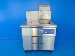 Pitco 14rs chhj0v 40lb Single Fryer W Storage Nat Gas Fired