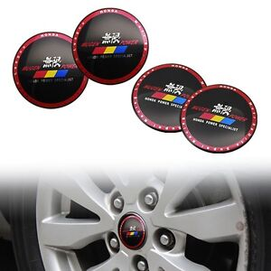4pcs 56 5mm Mugen Power Car Rim Steering Wheel Center Hub Cap Stickers For Honda
