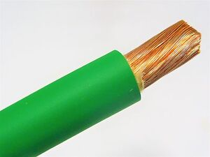 2 0 Welding Battery Cable Green 600v Usa Epdm Jacket Heavy Duty Copper 15 Ft