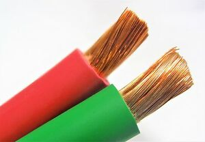 50 2 0 Welding Battery Cable 25 Red 25 Green Edpm 600v Usa Heavy Duty Copper