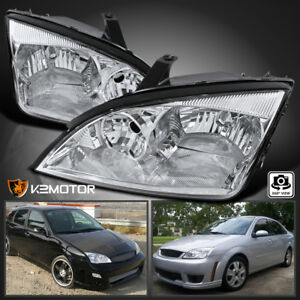 For Ford 2005 2007 Focus Crystal Clear Lens Headlights Head Lights Lamps Pair