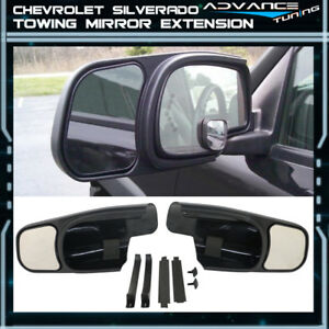 For 00 06 Silverado Oe Factory Style Side View Towing Mirror Extension Pair