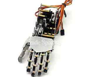 Sainsmart Robotic Left Hand 5 Fingers With Servos For Humanoid Robot