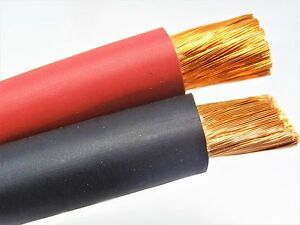 10 Ft 2 0 Car Audio Battery Welding Cable Sae j1127 5 Red 5 Black