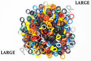 Dental Hygienist Instrument Silicone Color Code Rings 100 Pcs Assorted