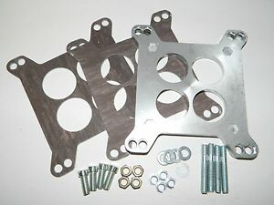 New Carter Rochester 4 Barrel To Holley Carburetor Adapter W Hardware Gaskets