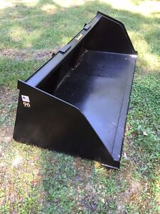 New 90 Skid Steer tractor Snow mulch 7 1 2 Bucket for Bobcat Case Cat More