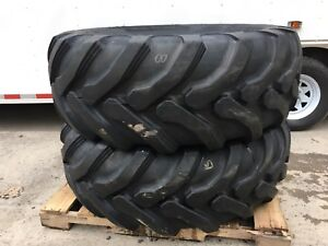 2 New Galaxy 19 5l 24 Backhoe Tires 12pr r4 19 5lx24 For Case Cat