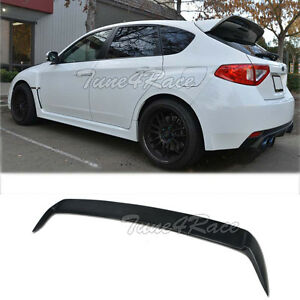 For 08 14 Subaru Impreza Wrx Sti Hatch Rear Spoiler Wagon Body Kit Add On Wing