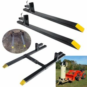 Hd 1500lbs 2000lbs 4000lbs Clamp On Pallet Forks Loader Bucket Skidsteer Tractor