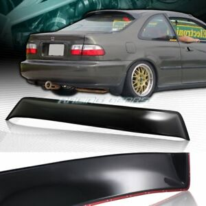 For Honda Civic 2 Dr Coupe Black Abs Plastic Rear Window Roof Visor Spoiler Wing