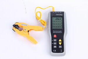 4 channel K type Thermometer 200 1372 c Thermocouple Sensor W 4 X Pipeclamps