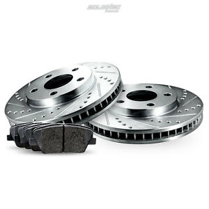 Rear Drilled Slotted Rotors Disc And Ceramic Brake Pads 2012 2016 Ford Focus
