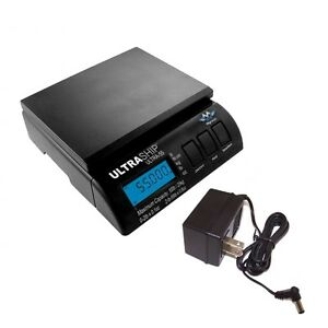 Postal Shipping Scale Myweigh Ultra Ship 55 With Ac Adapter 55lb X 0 1oz Black