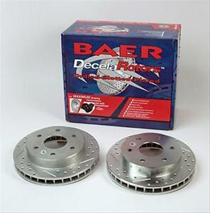 Baer Sport Front Brake Rotors 1997 04 Ford F150 F 150 4wd Slotted Cross Drilled