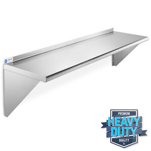 Stainless Steel Commercial Kitchen Wall Shelf Restaurant Shelving 14 X 48
