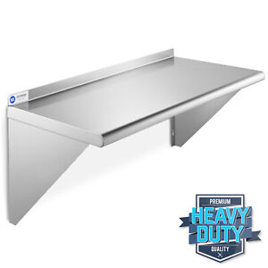 Stainless Steel Commercial Kitchen Wall Shelf Restaurant Shelving 12 X 24