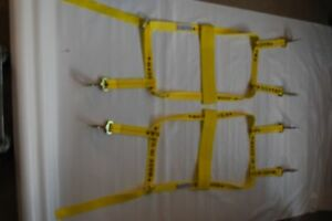 Acme Car Basket Straps Tow Dolly Wheel Net Set Twisted Snap Hooks Usa Made