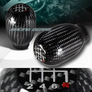Type R Real Carbon Fiber 6 Speed Manual Stick Gear Shifter Shift Knob Universal