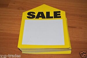 Lot 500 Yellow Oversized Med Sale Price Tags Labels 3 1 4 X 4 Pre punched Hole