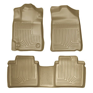 Husky Liners 2007 2011 Toyota Camry All Weather Floor Mats Tan Front And Rear