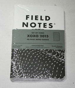 Field Notes Xoxo Festival 2015 Edition New Sealed Notebook 3 pack