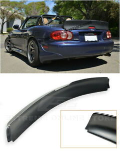 For 99 05 Mazda Miata Nb Extreme Rb Style Rear Trunk Spoiler Wing Lip Kit Black