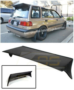 For 88 91 Honda Civic Wagon Ef9 J S Style Rear Roof Trunk Spoiler Wing Lip Kit
