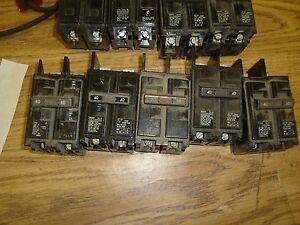 Lot Of 9 Circuit Breakers Challenger 40 Amp 2 Pole 20 Amp Free Shipping