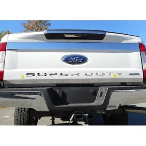 For Ford F 250 Super Duty 2017 2018 Saa Rt57320 Polished Lower Tailgate Trim