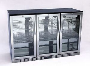 54 Wide 3 door Stainless Steel Back Bar Beverage Cooler free Shipping
