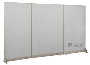 Gof Office Freestanding Partition 120 w X 72 h Office Divider