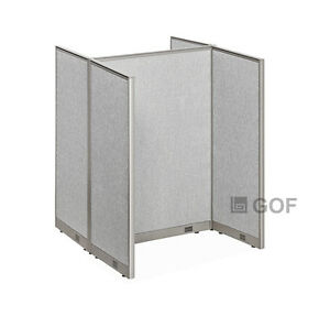 Gof Office Cubicle Double 2 Stations 48 wx72 h Per Station 48 w 4feet