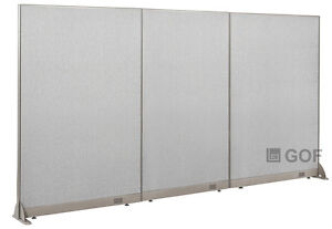 Gof Office Freestanding Partition 132 w X 72 h Office Divider