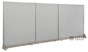 Gof Office Freestanding Partition 132 w X 60 h Office Divider