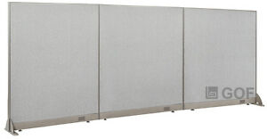Gof Office Freestanding Partition 144 w X 60 h Office Divider
