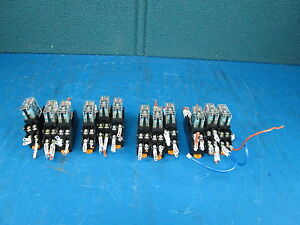 Lot Of 12 Omron G2r 2 snd Relay With Base M3x16