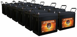 Qty 12 Vmax Slr155 12v 12 Volt 155ah Agm Deep Cycle Battery For Backup Solar