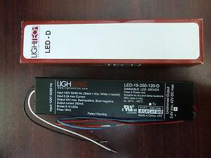 Lightech Transformer Led 18 350 120 d Dimmable Led Driver new In Box
