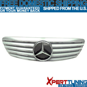 Fits 99 02 Mercedes Benz W220 S430 S500 S55 Amg Hood Grille