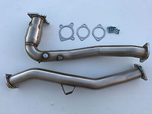 2015 2019 Wrx Manual Downpipe High Flow Cat Hfc O2 Bung Down Pipe 1320 J Pipe
