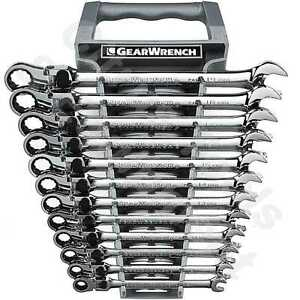 Gearwrench 85698 12 Pc Metric Xl Locking Flex Head Combination Ratchet Wrenches