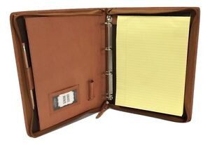 Brown Leather A4 Folder Organiser Portfolio Option To Personalise It08 4ring