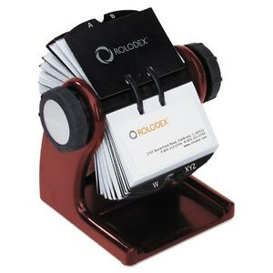 Rolodex Wood Tones Open Rotary Business Card File 1734242
