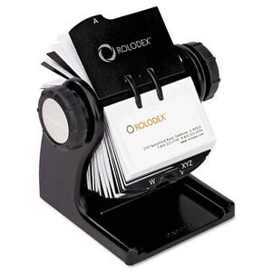 Rolodex Wood Tones Open Rotary Business Card File 1734238