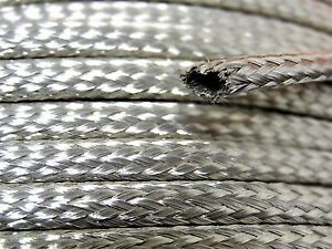 Tubular Braided Shield Tinned Copper Wire 1 4 Wide Ground Strap Usa 75 Ft
