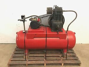 70 Gallon 5hp Horizantal Air Compressor Tank 5 Horsepower Leeson Electric Motor